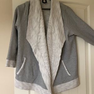 JONES NEW YORK Grey Open Cardigan Sweatshirt 1X.